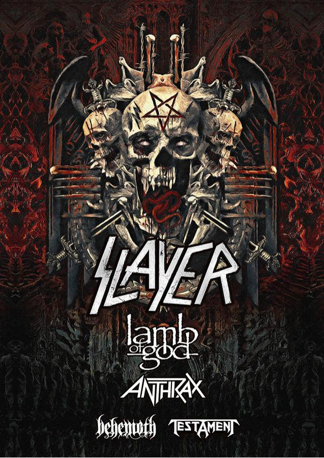 Slayer, Lamb of God, Anthrax, Behemoth y Testament en Orlando, FL 2018