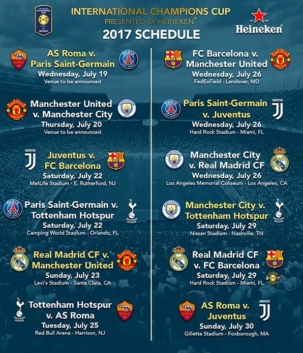 International Champions Cup 2019 Calendario.International Champions Cup Real Madrid Cf Vs Manchester